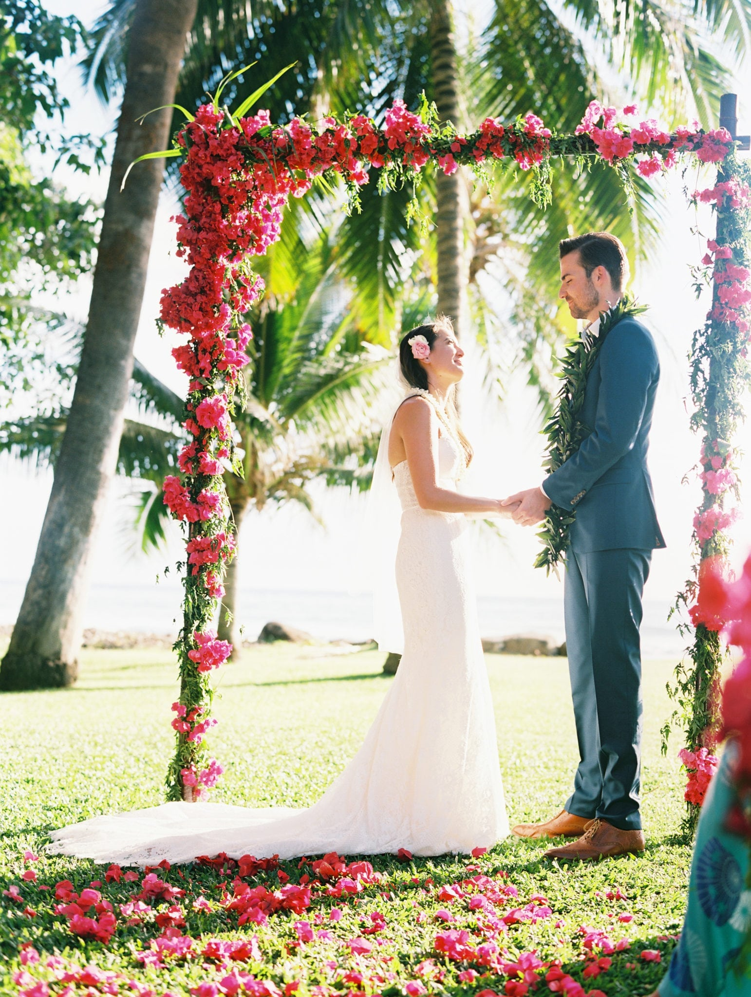 Bride and Groom Floral Arch Hawaii | Weddings in Maui | Maui's Angels