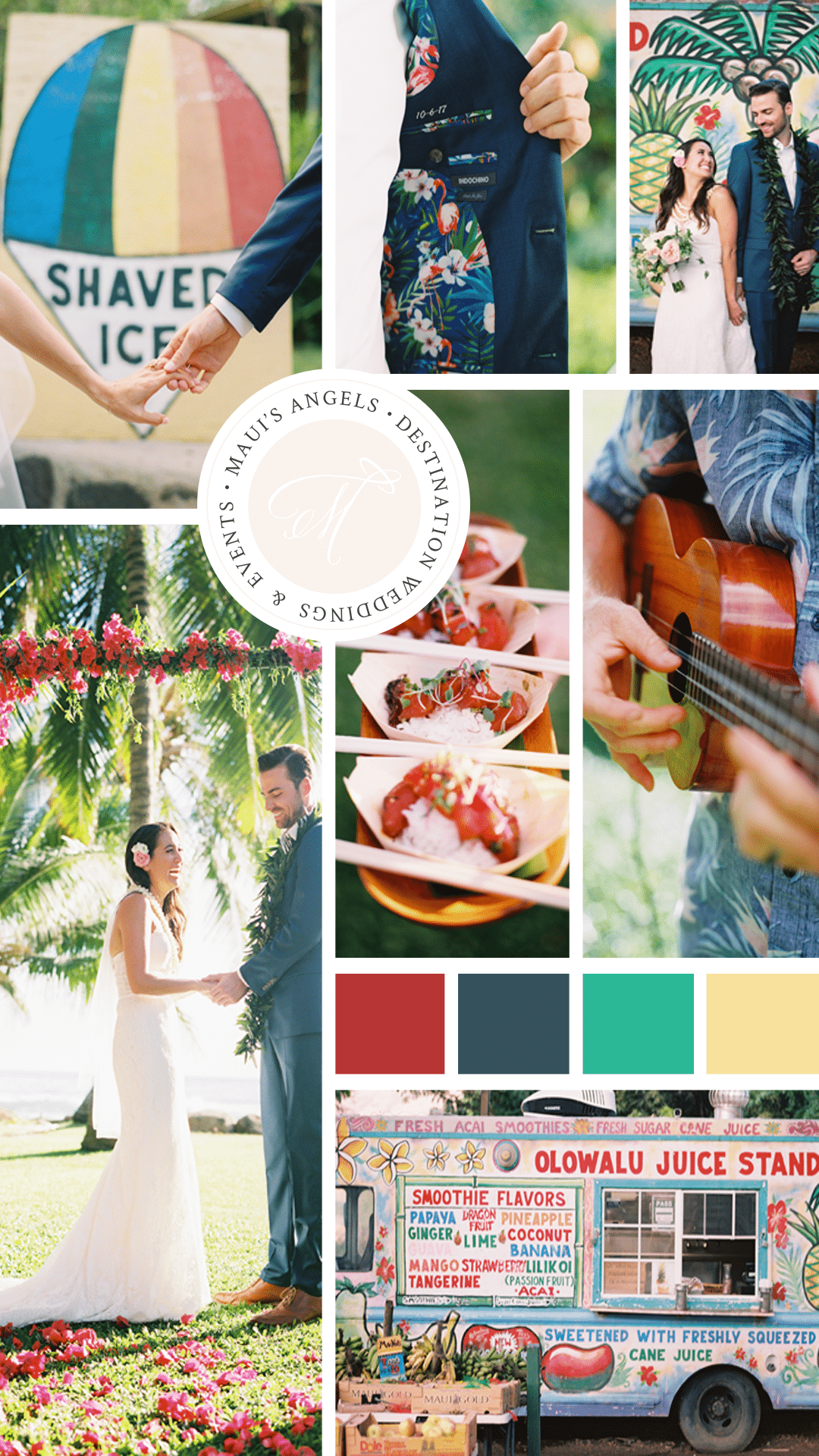 Creative Color Palettes for Your Destination Wedding in Hawaii