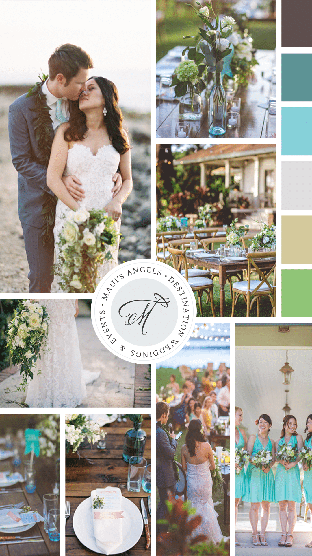 Destination Wedding Color Palette | Wedding in Hawaii | Maui's Angels