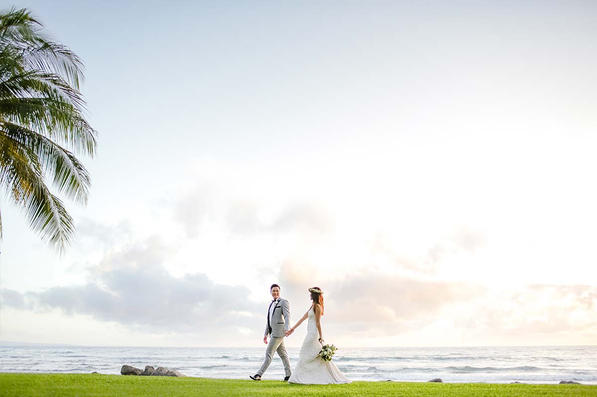 Bride and Groom on Maui | Reasons to hire a destination wedding planner | Maui Wedding Planner | Maui's Angels