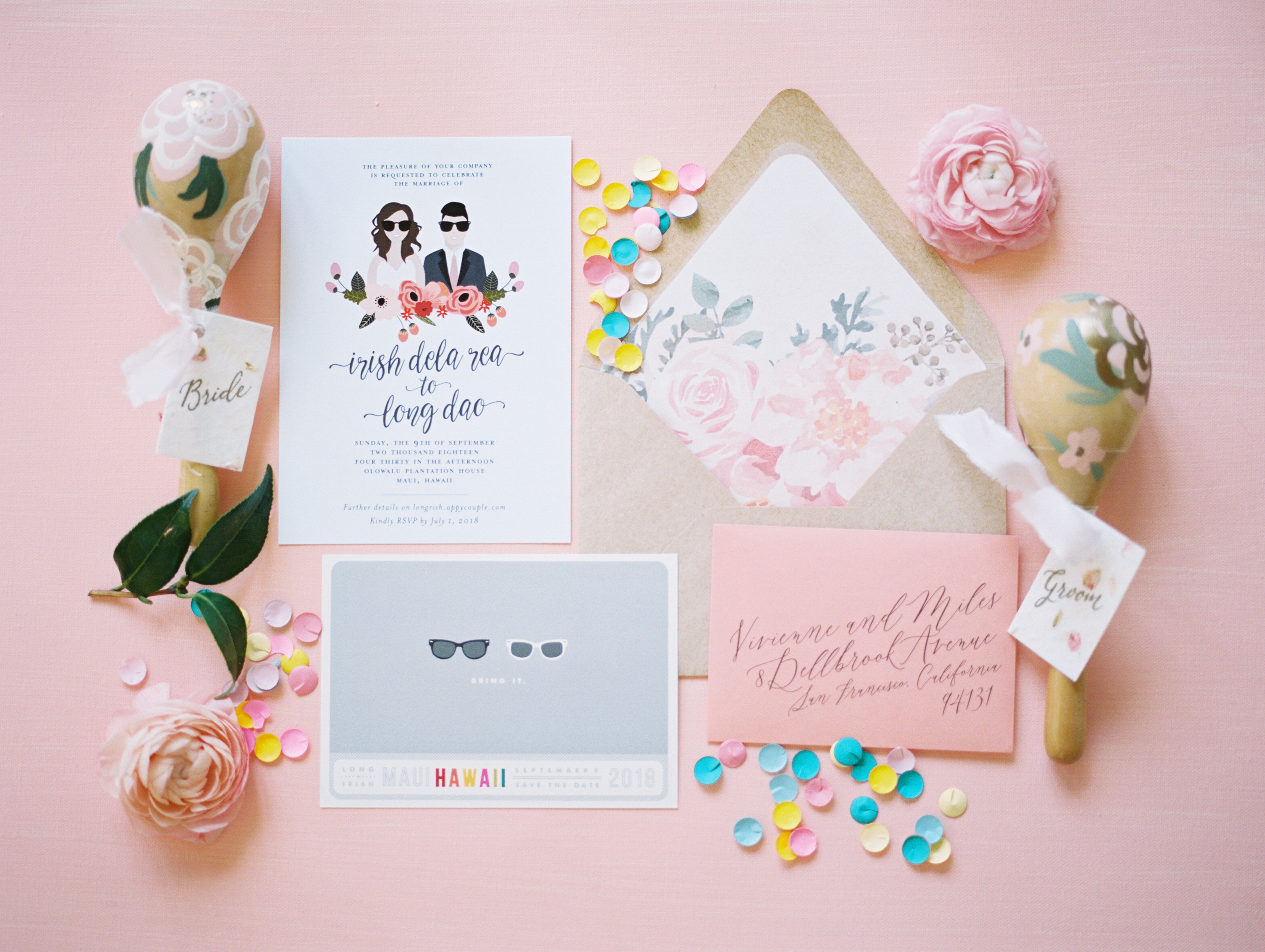 Custom Wedding Invitations | Maui Wedding Planner | Maui's Angels
