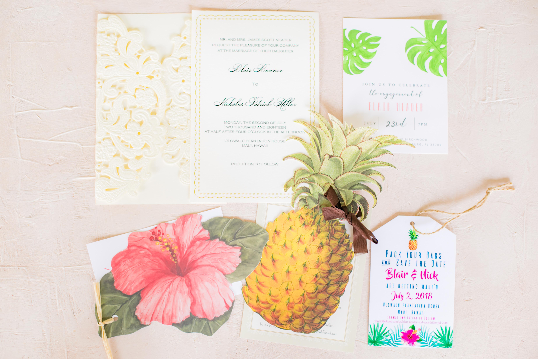 Custom Wedding Invites | Destination Wedding in Maui | Maui Wedding Planner | Maui's Angels blog
