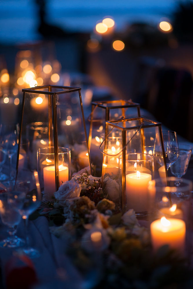 Reception Table Candles | Olowalu Plantation House | Maui Wedding Planner | Maui's Angels Blog