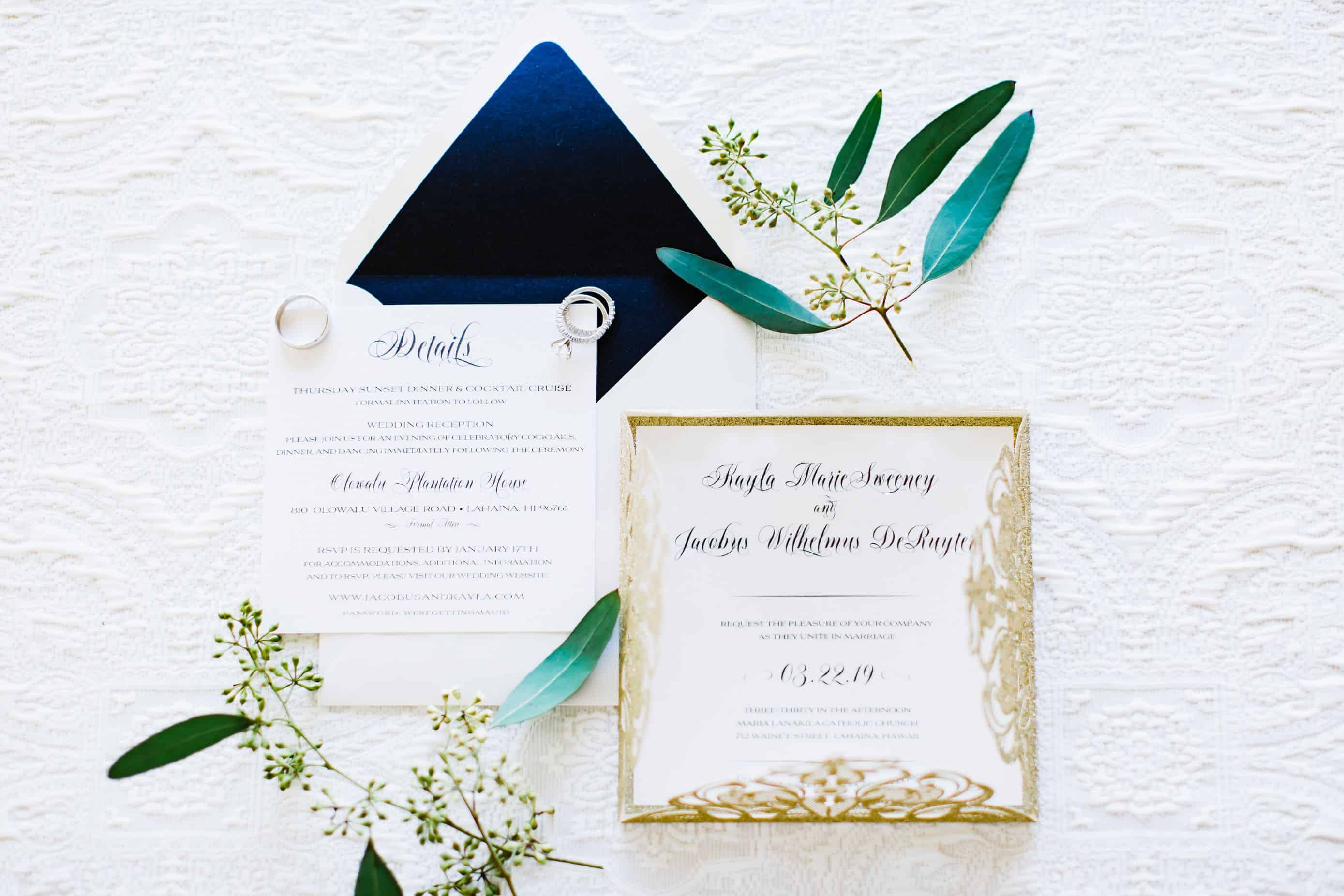 Custom Destination Wedding Invitation | Maui's Angels
