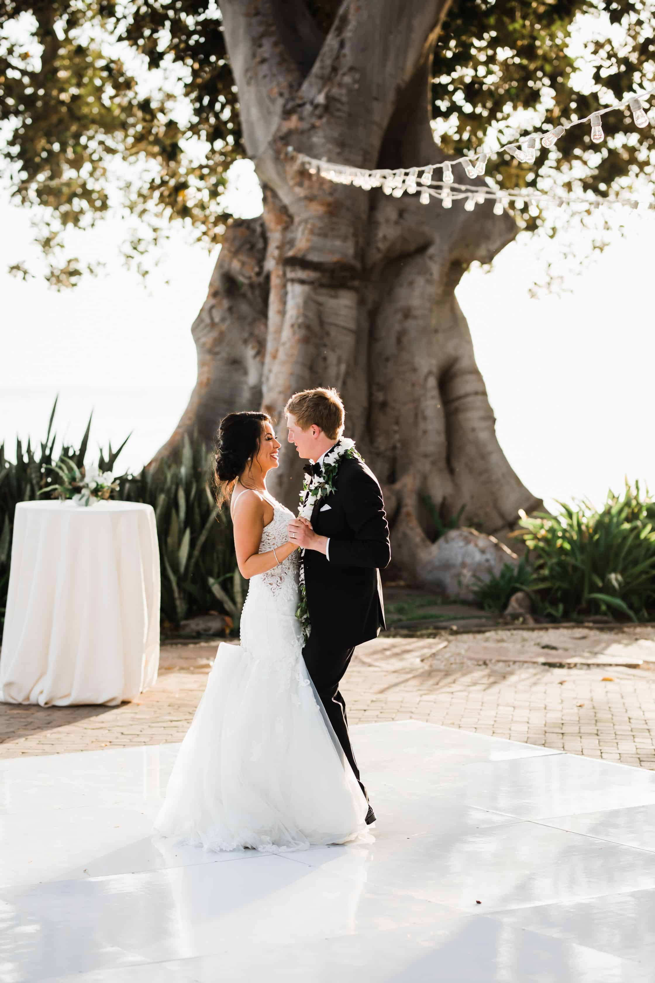 Destination wedding first dance at Olowalu Plantation House