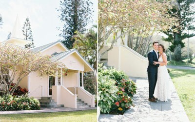 Maddie & David's Ocean Blue Bohemian Steeple House Wedding
