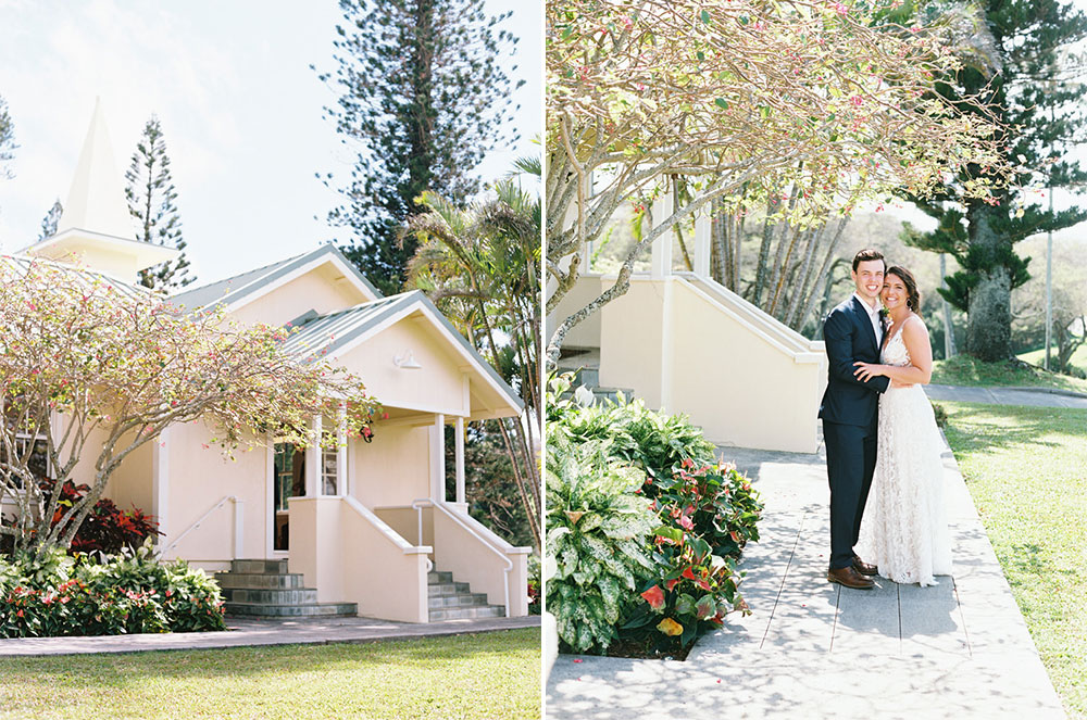 Maddie & David's Ocean Blue Bohemian Steeple House Wedding