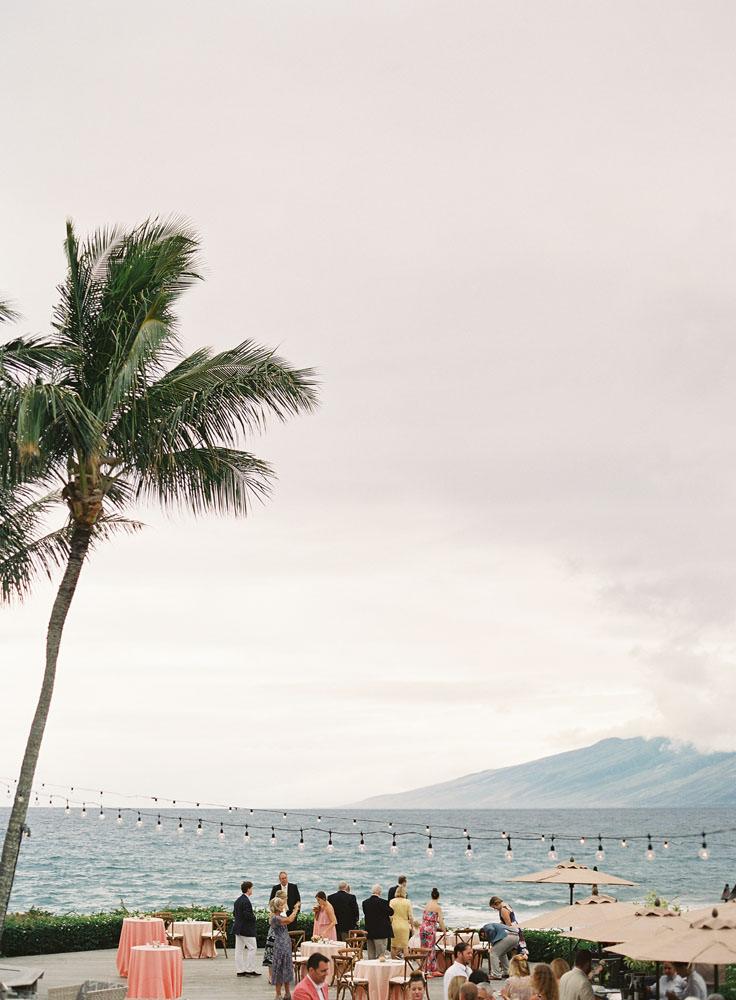 Oceanfront wedding in Maui, HI