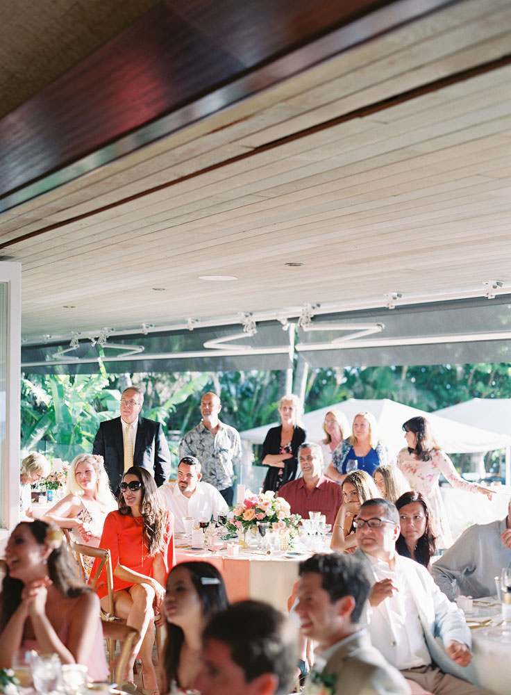 Wedding guests gathered together