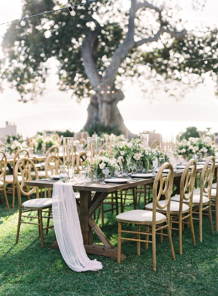 Rustic wedding reception chairs